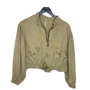 Free People brown Moto jacket
